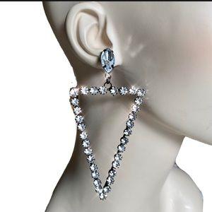 Kenneth Jay Lane KJL Triangle Arrow Mega Earrings